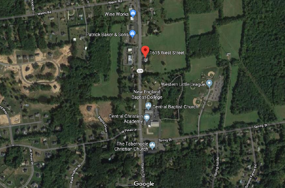 Emergency crews responded to a car crash on West Street in Southington Friday evening. | Google Maps