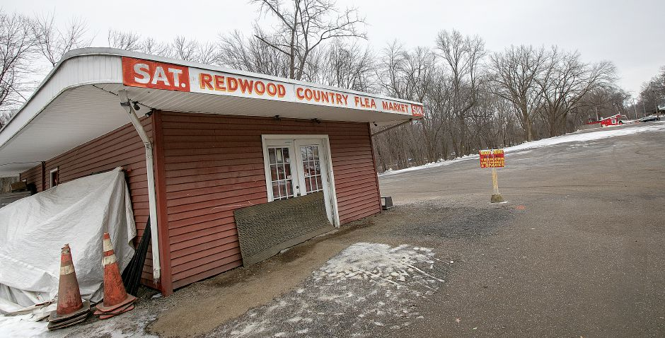 The Redwood Flea Market, 170 S. Turnpike Rd. in Wallingford, Wed., Feb. 20, 2019. The property and the business is up for sale. Dave Zajac, Record-Journal