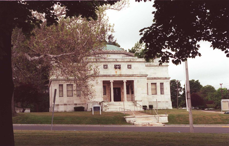 RJ file photo - The Curtis Memorial Building is undergoing restoration, May 1999.