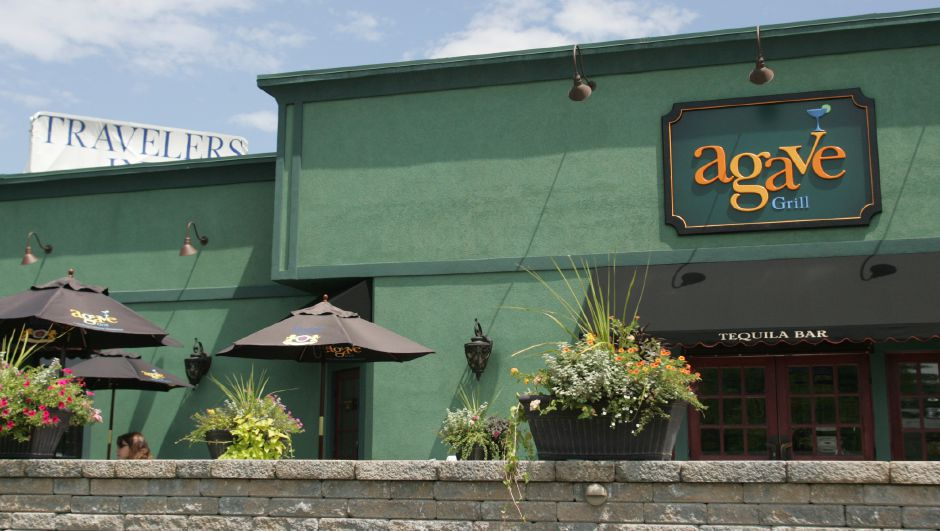 The Agave Grill on Queen Street in Southington on July 27, 2007. Emergency room nurses were at the restaurant after their shift when they heard gun shots from the Travelers Inn behind the building. They rushed back to find three men with gun shot wounds.