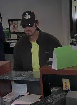 Berlin police are searching for the man who robbed the TD Bank on Farmington Avenue Tuesday afternoon. | Image courtesy of the Berlin Police Department