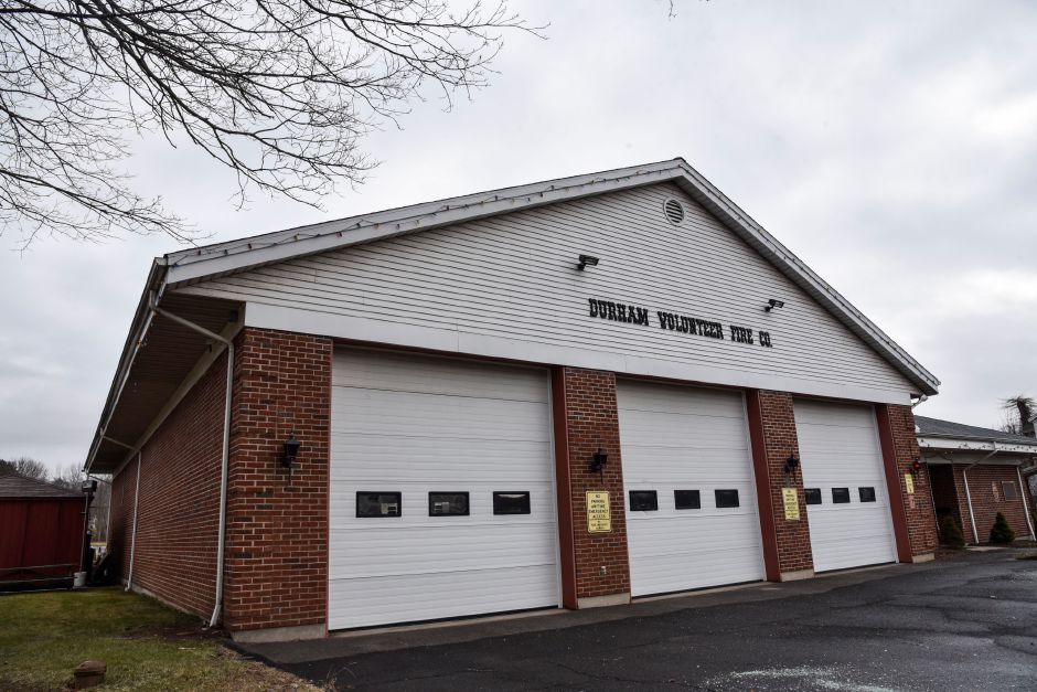 The Durham Volunteer Fire Company at 41 Main St. on Friday, Jan. 18, 2019. The town is considering a proposal that would create a public safety complex around the current firehouse at 41 Main St., that would include two neighboring parcels. | Bailey Wright, Record-Journal
