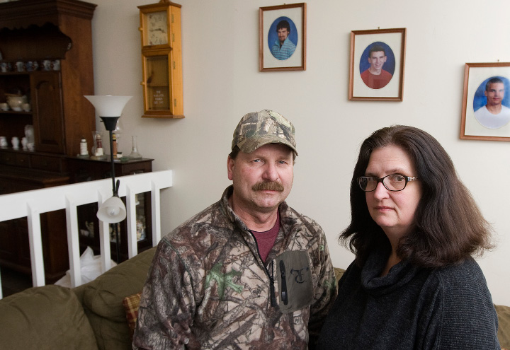 David and Susan Willette of Meriden, Wednesday, February 1, 2017. After the arrest of their son on what police called the city's largest heroin bust, the couple has found a way to help other parents and loved ones of those struggling with addiction find strength and support.   | Dave Zajac, Record-Journal
