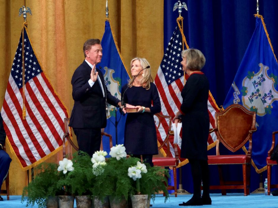 Ned Lamont gets sworn in as governor of Connecticut in Hartford Jan. 9, 2019. | Dave Zajac, Record-Journal