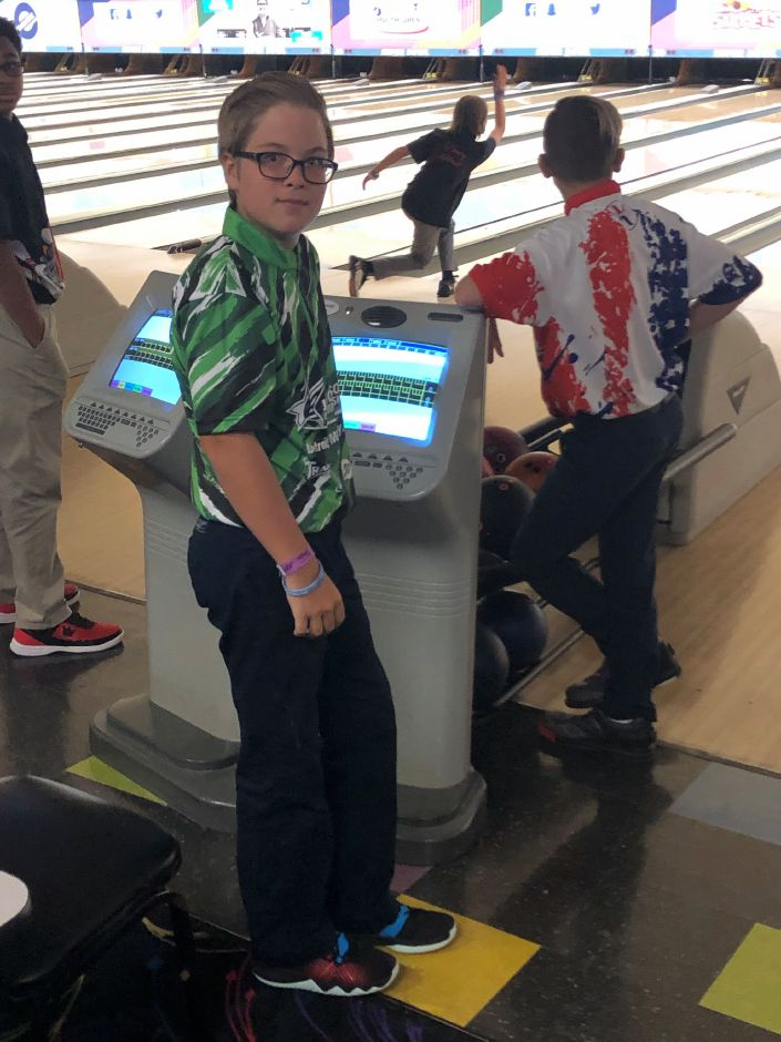 Bowler Sean Buck, 12, of Plantsville finished 45th out of 262 boys in the 12U Division at last week's Junior Gold Championships in Michigan.  Photo courtesy of Ron Buck