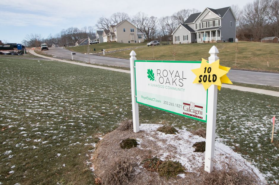 Realtors are predicting housing prices to fall as a result of the new tax bill. The Royal Oaks sub division in Wallingford Friday December 29, 2017 | Justin Weekes / Special to the Record-Journal