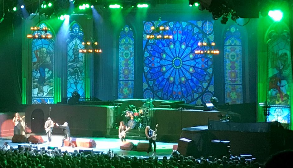 Iron Maiden performs at the XFinity Theatre in Hartford Saturday Aug. 3, 2019. | Jim Pasinski, special to the Record-Journal
