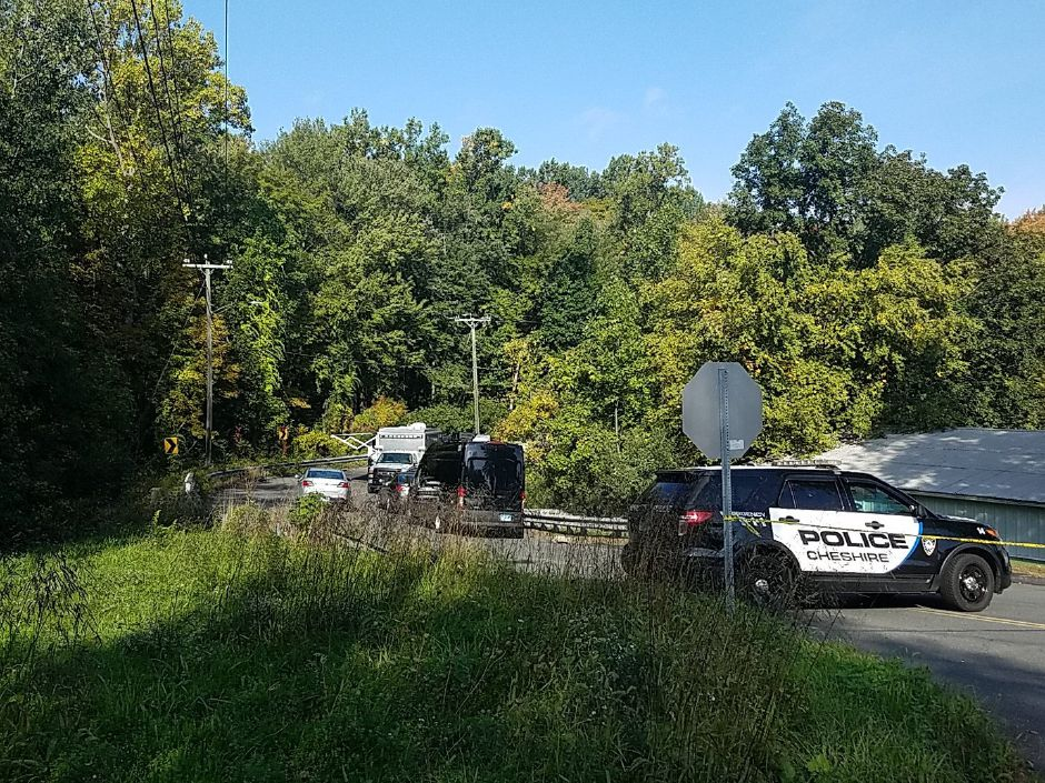 A police investigation is underway in the area of Mixville and Marion roads in Cheshire. | Lauren Sellew, Record-Journal