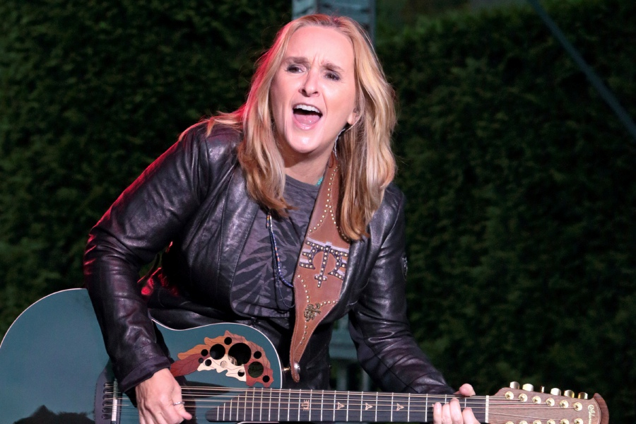 "Melissa Etheridge performs in concert during her ""This is M.E. Tour 2015"" at Longwood Gardens on Tuesday, Aug. 25, 2015, in Kennett Square, Pa. (Photo by Owen Sweeney/Invision/AP)"