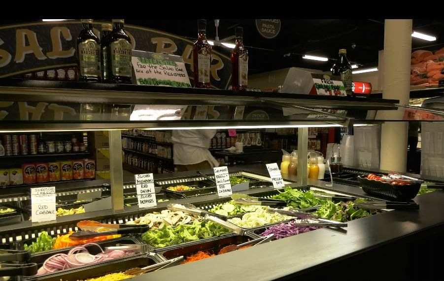 The salad bar at Connecticut Fresh Food & Produce Market, 920 South Colony Road, Wallingford. Ashley Kus, Record-Journal