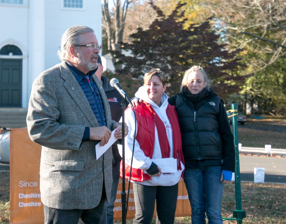 State Representative William Petit spoke before the Mile of Hope, created by the Cheshire charity Lights of Hope to raise money for local charities. The Petit Foundation was one of those Lights of Hope raised money for. | Devin Leith-Yessian/Special to the Record -Journal