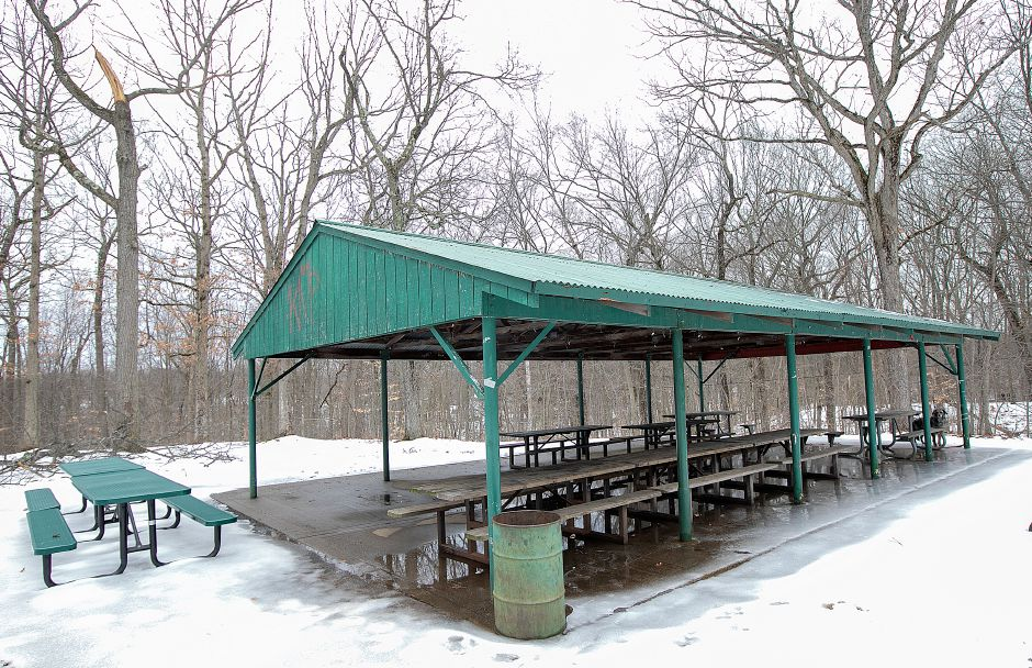 The pavilion at Lufbery Park on Cheshire road in Wallingford, Fri, Feb. 15, 2019. The Recreation Commission is considering a redesign of Lufbery Park. Dave Zajac, Record-Journal