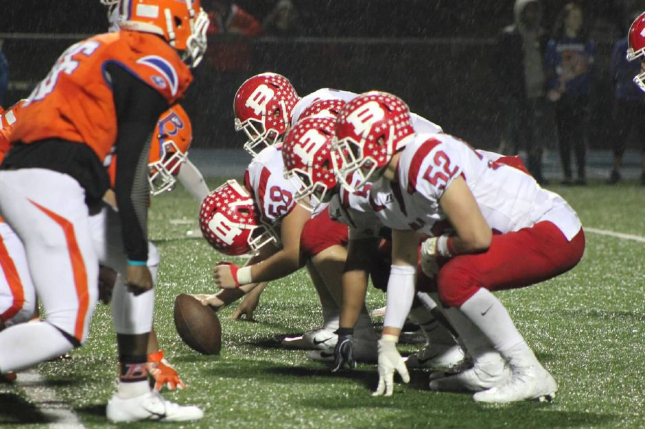 The BHS football team improved to 8-0 with a convincing win over Bloomfield Friday.