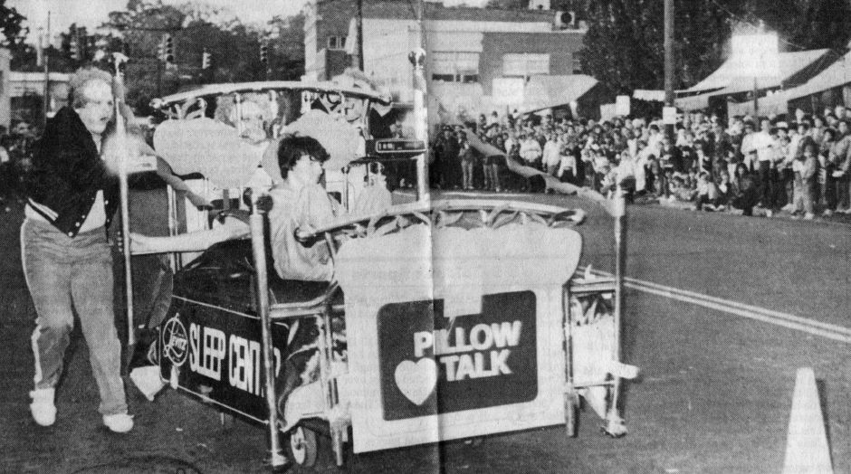 Bed races from the 1984 Apple Harvest Festiva in Southingtonl. | (Record-Journal file)