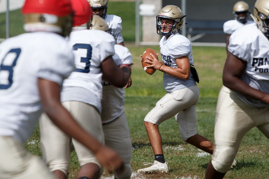 Though he's only  a first-year starter at quarterback, Platt's Lorenzo Sanson started in the secondary last year as a junior and recorded 80 tackles. He replaces A.J. Marinelli.