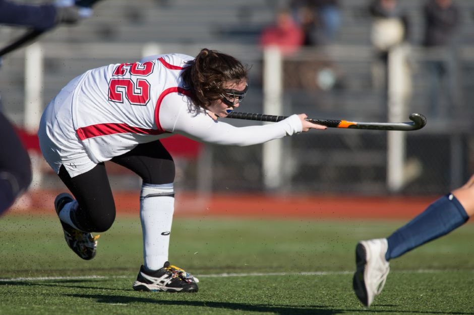 Meaghan Hogan scored two goals in Cheshire's 5-0 win over Branford in the SCC field hockey tournament semifinals Tuesday in Cheshire. | Justin Weekes / For the Record-Journal