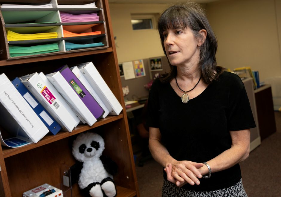Leeora Netter, clinical director, talks about services offered at Child Guidance Clinic for Central Connecticut at 284 Pratt St. in Meriden, Thursday, July 26, 2018. Founded in 1957, the nonprofit Child Guidance Clinic of Central Connecticut provides comprehensive evidenced based mental health evaluation and treatment, crisis intervention and outreach services to children, adolescents and their families in the greater Meriden area. Dave Zajac, Record-Journal