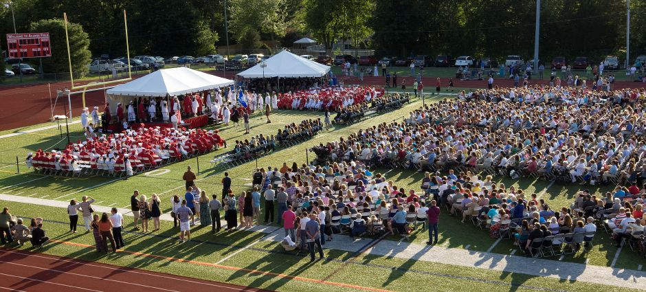The Class of 2014, school officials, family and friends gather at Cheshire High School for commencement exercises, Tuesday, June 24, 2014. | Dave Zajac / Record-Journal