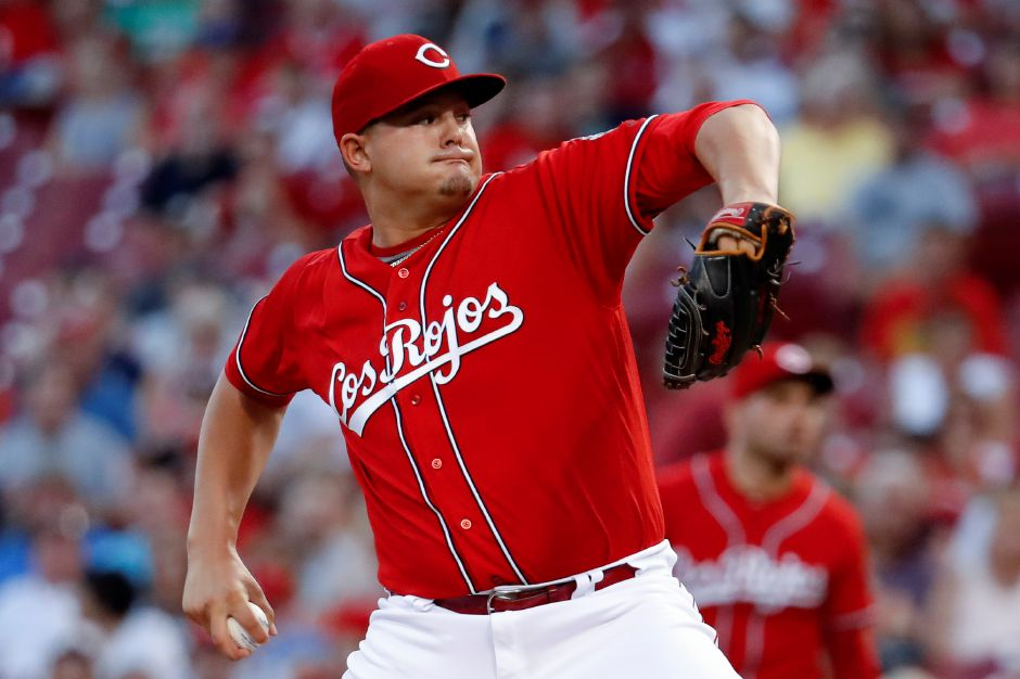 Southington native Sal Romano, seen here pitching against the Boston Red Sox in a game last September, starts for the Reds today against the Washington Nationals at Great American Ballpark in Cincinnati. | Associated Press