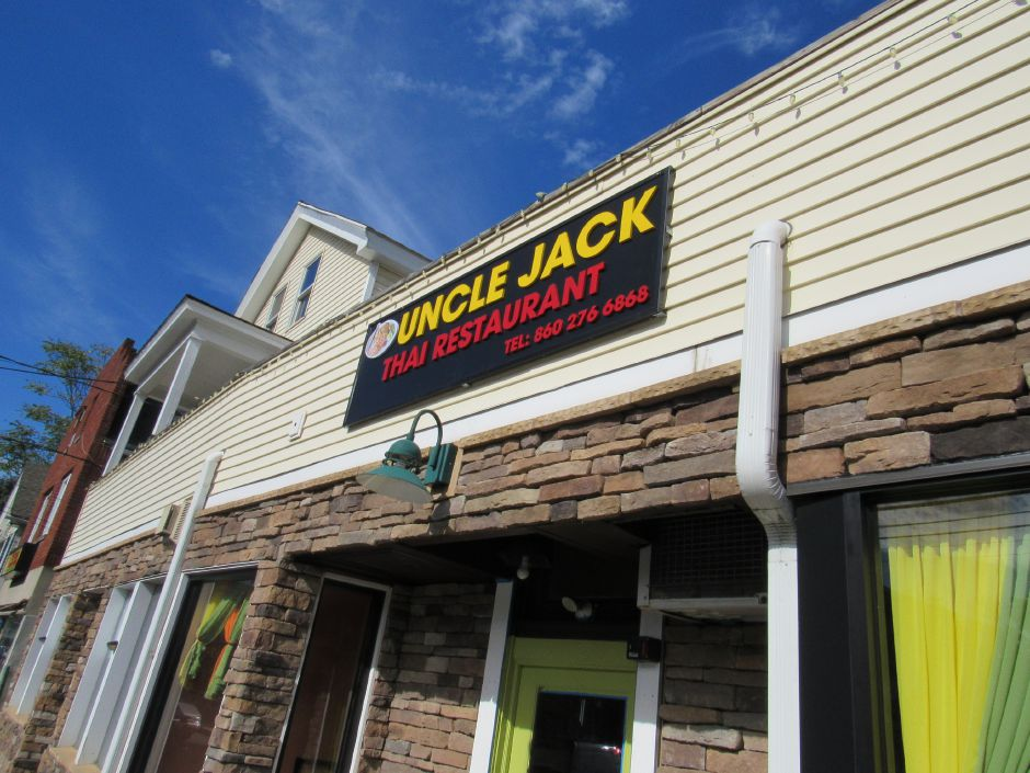 Uncle Jack Thai Restaurant in downtown Plantsville Friday. The owner Phangphan Phatphongvet hopes to open in a few weeks.