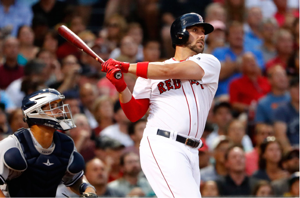 FILE - In this Aug. 9, 2016, file photo, Boston Red Sox