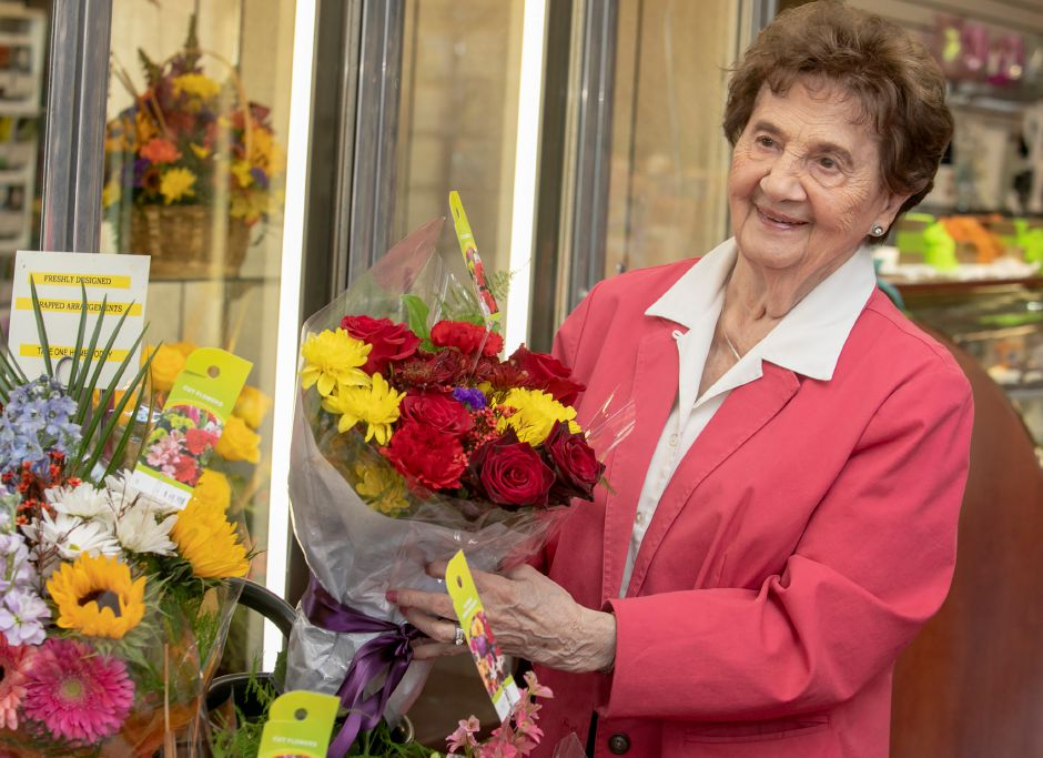 Ann Greco, 92, owner of Wallingford Flower and Gift Shoppe in Wallingford, received a mayoral proclamation declaring Friday as Ann Greco Day in town. Dave Zajac, Record-Journal