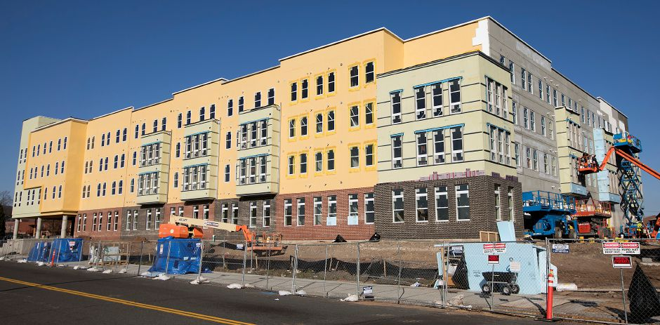 A view Wednesday of Meriden Commons I, which is under construction in downtown Meriden. Dave Zajac, Record-Journal