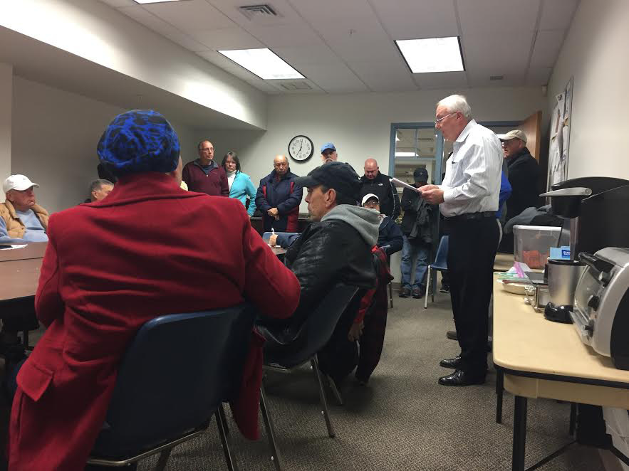 Berlin golfers gathered at the Monday, Nov. 28 Parks and Rec.reation Commission meeting to protest the expiration date on Timberlin season  passes. | Ashley Kus, The Berlin Citizen