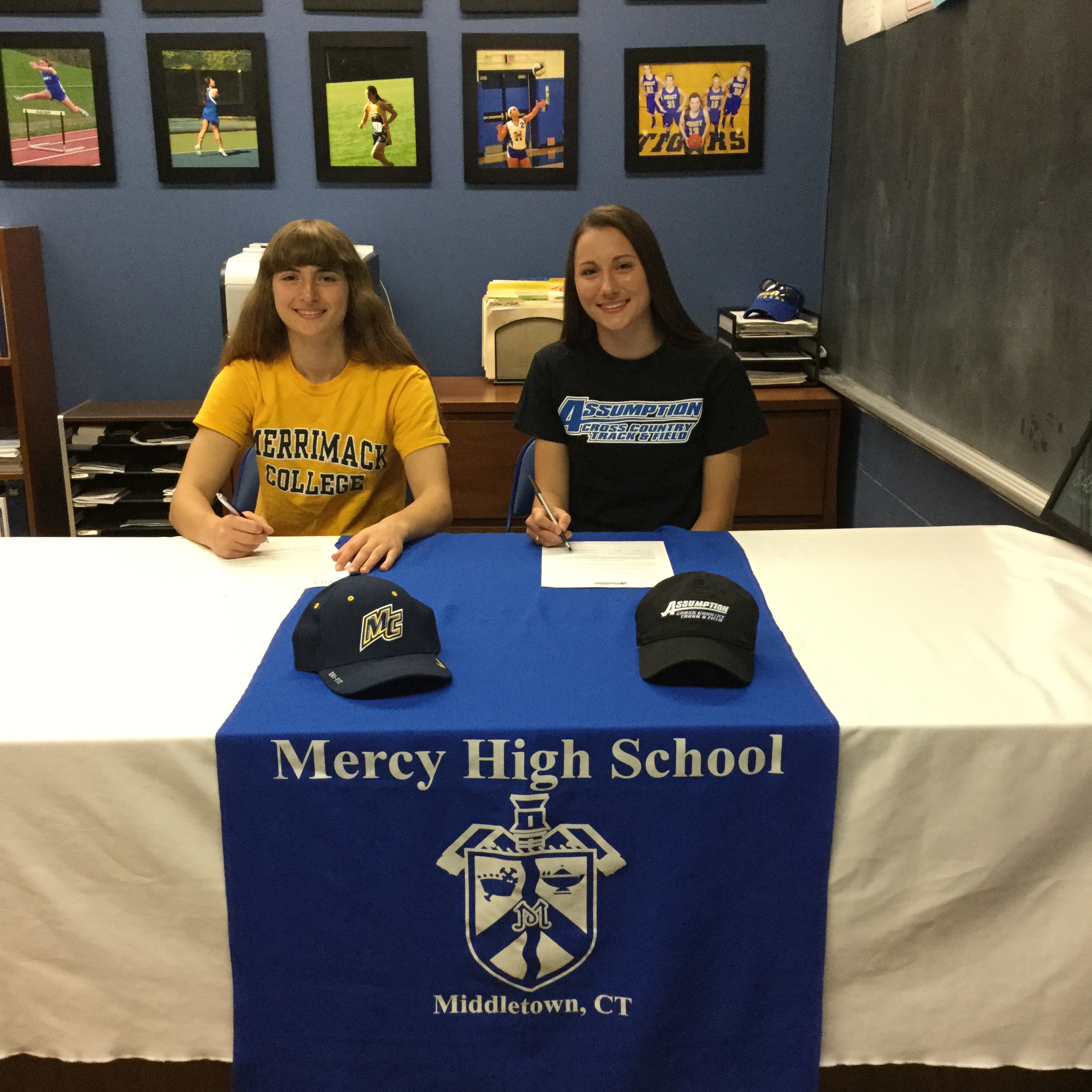 Tiffany Mangiameli, left, and Madison Piel signed National Letters of Intent recently.