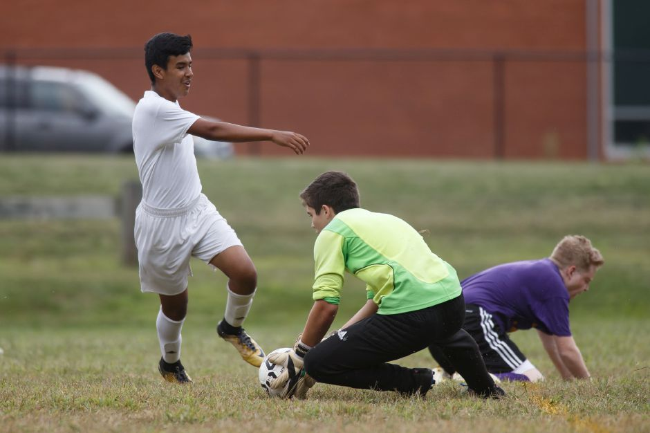 Giovanni Solis and the Wilcox Tech boys soccer team will look to defend its Connecticut Technical Conference championship this fall. The Indians went 15-0-1 a year ago. | Justin Weekes / Special to the Record-Journal