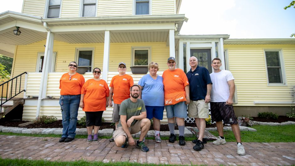 Around 10 volunteers from Home Depot and Behr volunteered to do painting and landscaping at a transitional living home for young women in the foster care system on Aug. 15.