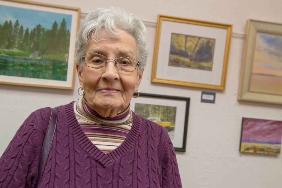 Ellie Bender of Meriden received the Best in Show award  Saturday during Gallery 53