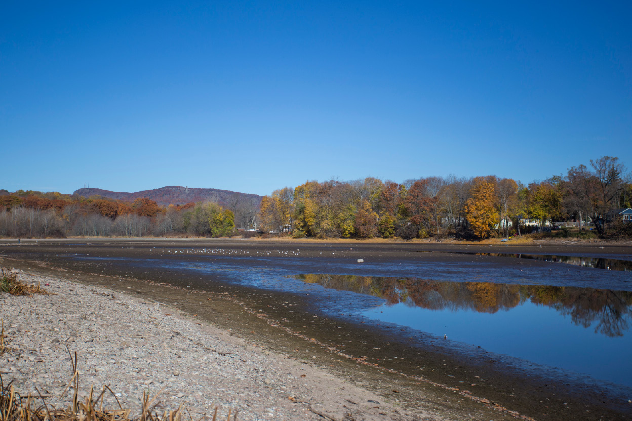 Fall foliage reflects in the water at Hanover Pond. | Richie Rathsack, Record-Journal