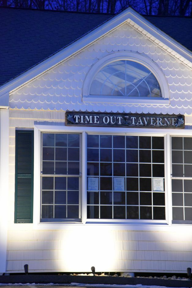 Time Out Taverne at 100 New Haven Rd. in Durham, pictured Feb. 13, 2019, closed Monday. | Bailey Wright, Record-Journal
