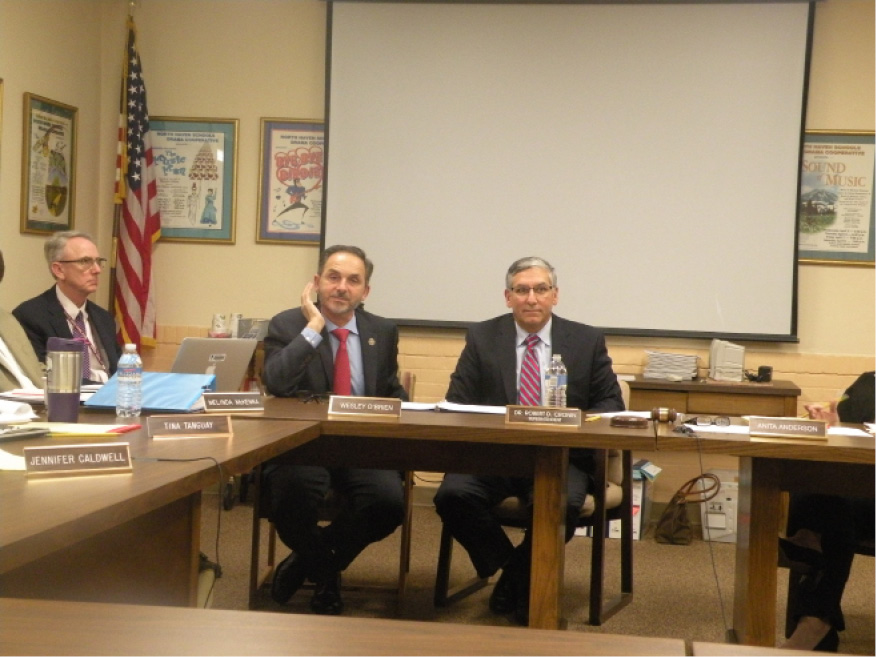 Dave Yaccarino and Len Fasano spoke to the Board of Education about Gov. Malloy