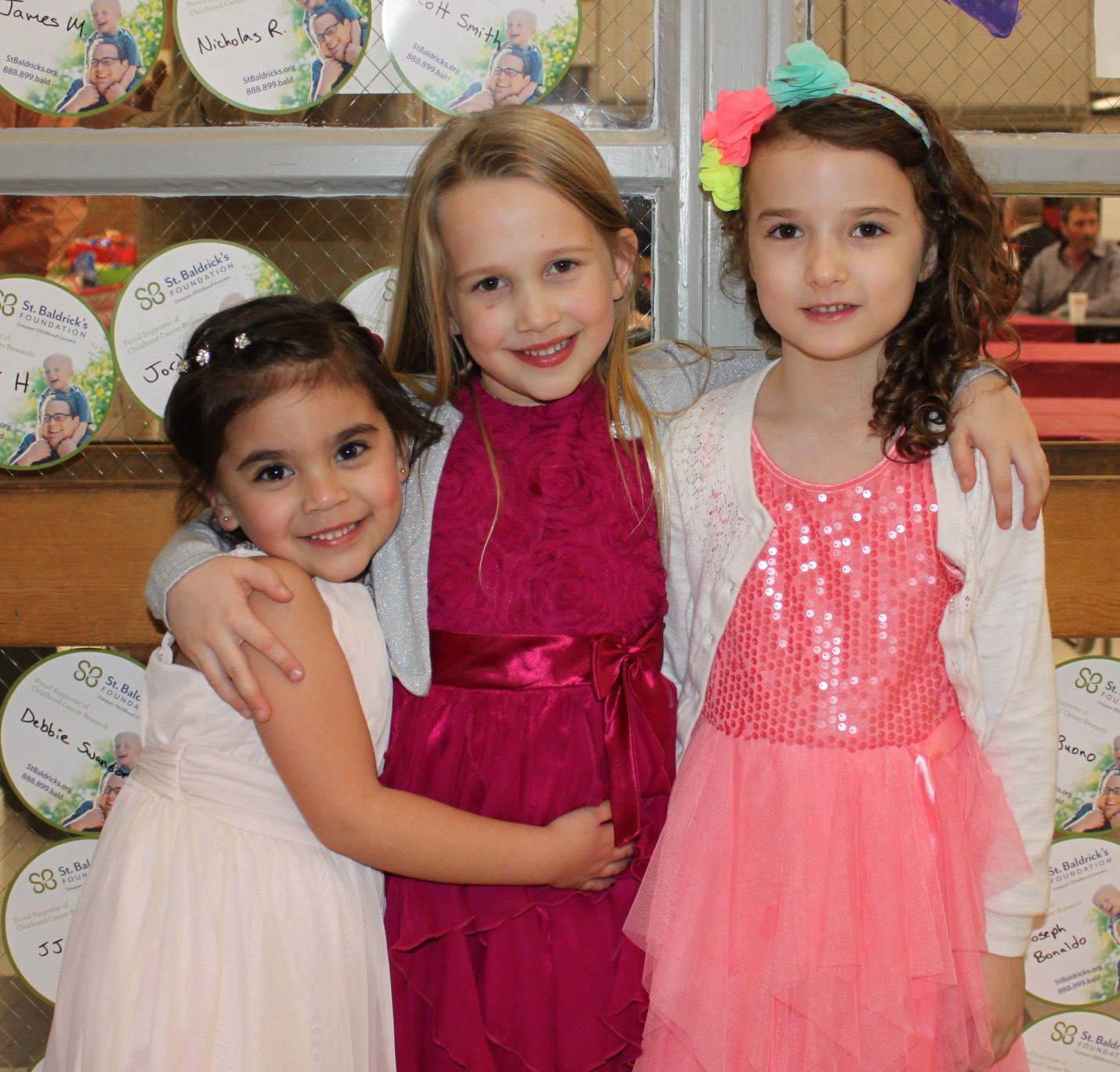 Pictured are  kindergarten students Hannah DiPalma, Ruby Huston and Charlotte Healy.