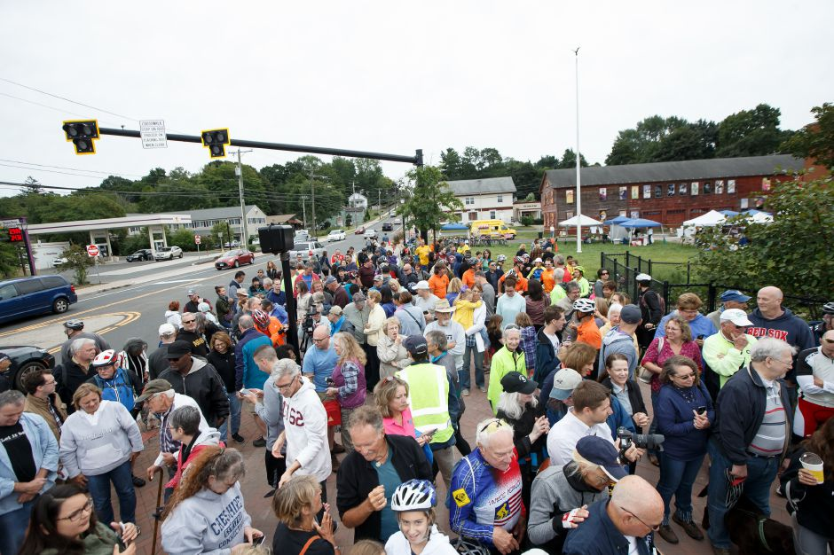 Sunday during a Ribbon Cutting Ceremony for the Farmington Canal Heritage Trail on West Main in Cheshire September 9, 2018 | Justin Weekes / Special to the Record-Journal