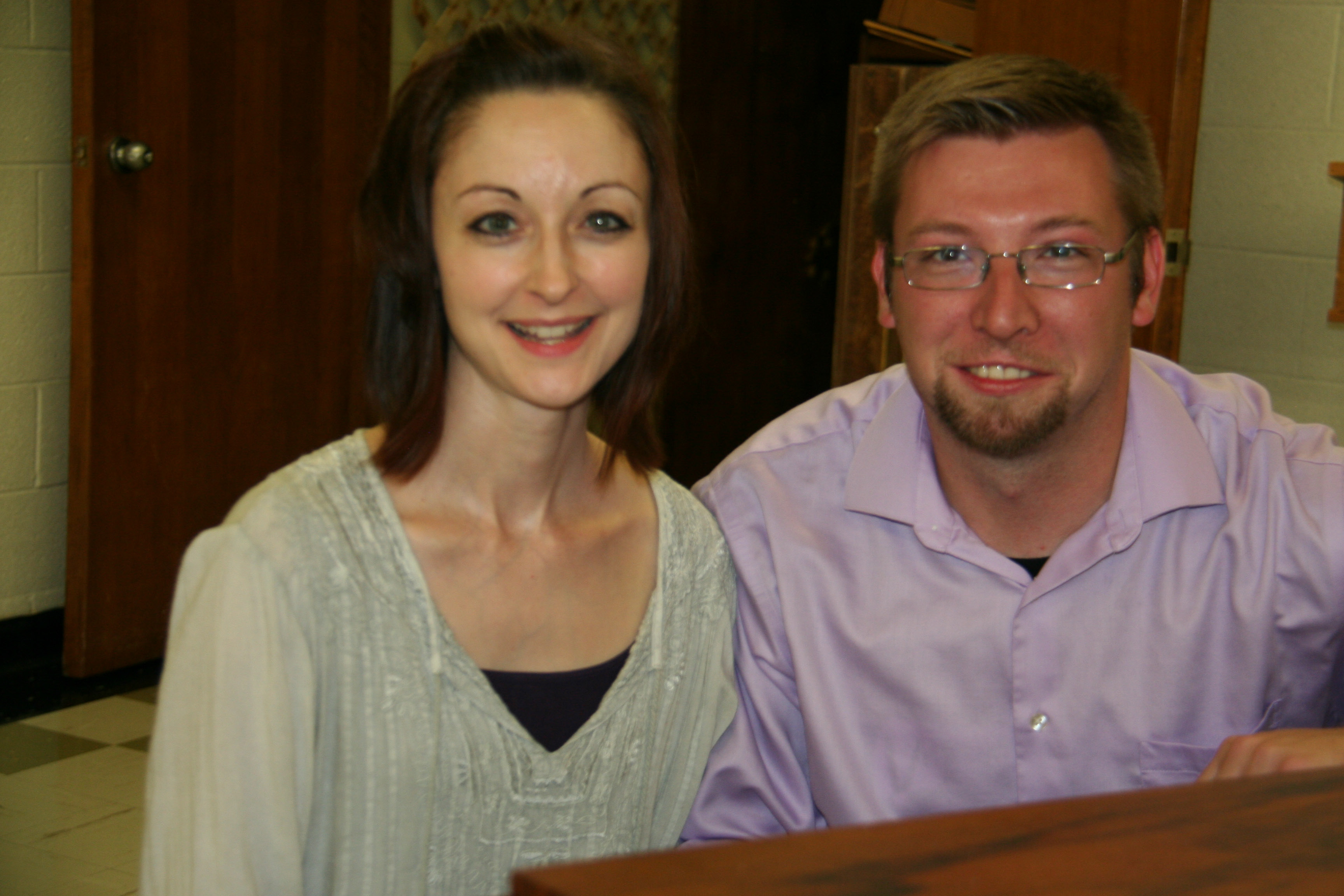Thomas Buckley and Kelly Sharp bring a great deal of musical experience to the Plainville Choral Society.