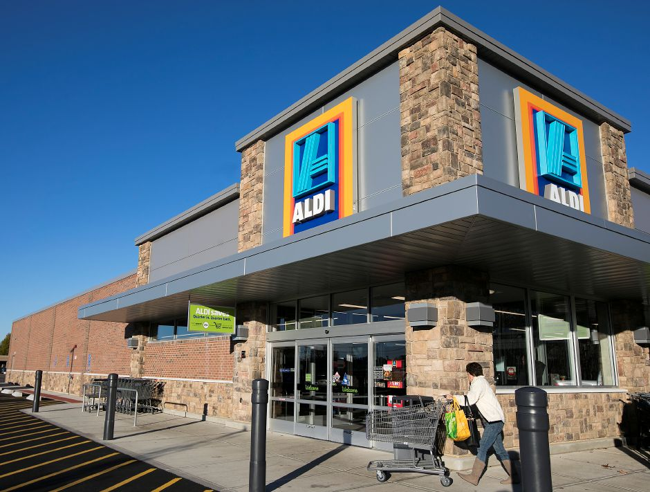 The new Aldi store at 811 Queen St.,  Southington, on Friday.Dave Zajac, Record-Journal