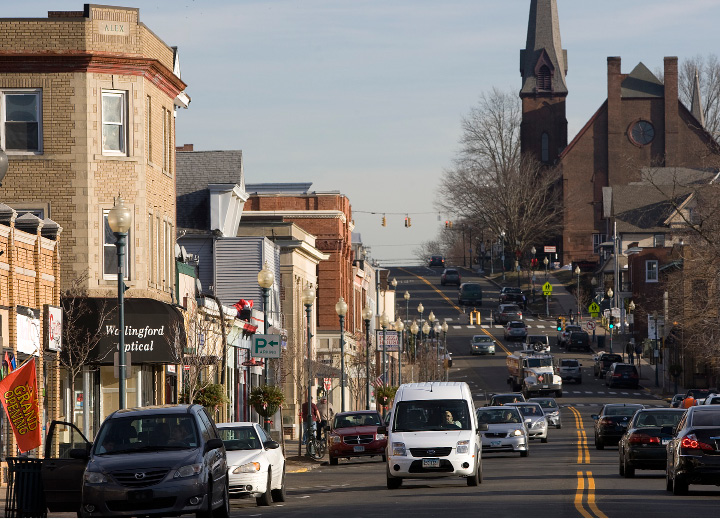 FILE PHOTO: View of Center Street in Wallingford, Thursday, Jan. 7, 2016. Center Street and several other streets are part of the Incentive Housing Zone in downtown Wallingford.  |  Dave Zajac / Record-Journal
