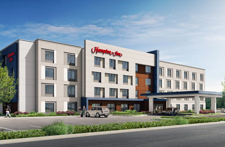 A rendered image of what the 2019 Hampton Inn prototype will look like. | Photo Courtesy Hilton