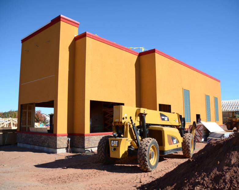 The future Popeyes Louisana Kitchen, 1095 West St., Southington, on Friday, Oct. 20, 2017. | Bryan Lipiner, Record-Journal