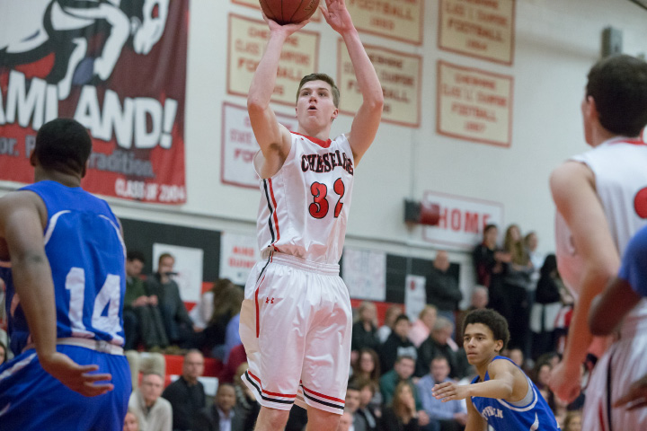Drew Hart had 20 points and 12 rebounds for Cheshire in Monday night