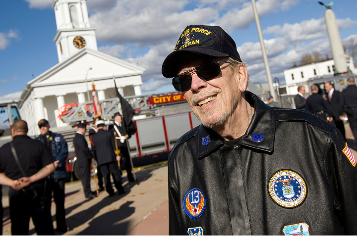 MERIDEN — Veterans gathered in front of the monuments on