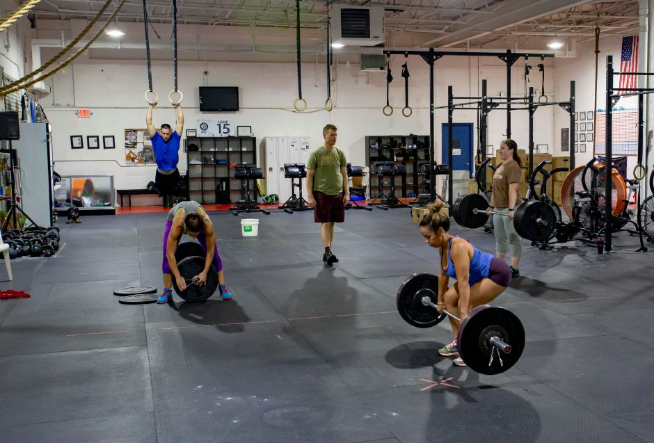 Crossfit routines involve a wide variety of workouts. Richie Rathsack, Record-Journal