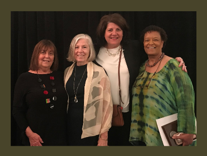 From left Pat Calhoun, Rosa Gatti, Trish Fabbri and Claire Smith.