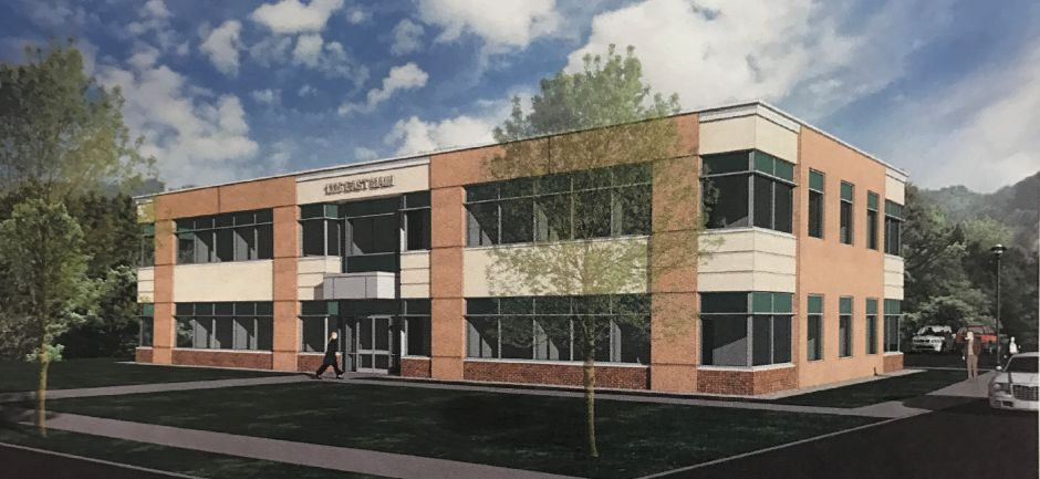 A rendering of the office building planned for 1336 East Main St. | Courtesy of the City of Meriden.