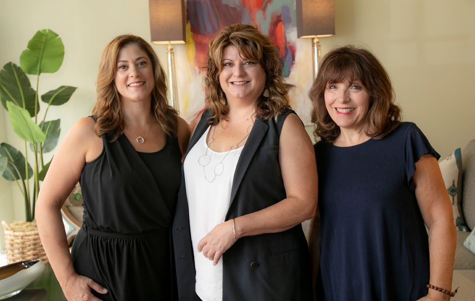 Left to right, Jennifer Napolitano, Ramona Eldridge and Judy Granucci, owners of Design House Interiors 6 N. Main St., Wallingford, Wed., Aug. 14, 2019. The business will officially open a new showroom in a reception on September 5 from 5-8 p.m. Dave Zajac, Record-Journal