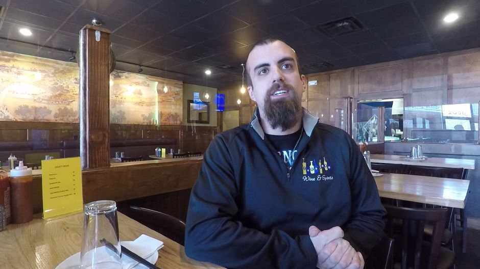 Joe Capriglione is a regular customer along with his co-workers who all work in the same plaza as FunJu Noodle Bar, 20 Ives Rd., Wallingford. | Ashley Kus, Record-Journal