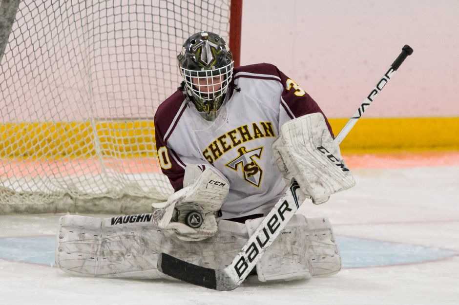 Tyler Robertson returns as starting goaltender for the Sheehan Titans. Justin Weekes, Special to the Record-Journal